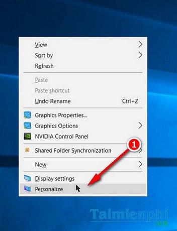 Cách thay đổi hình nền máy tính liên tục, thay đổi hình nền desktop liên tục 1