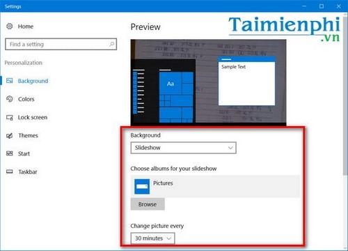 Cách thay đổi hình nền máy tính liên tục, thay đổi hình nền desktop liên tục 4