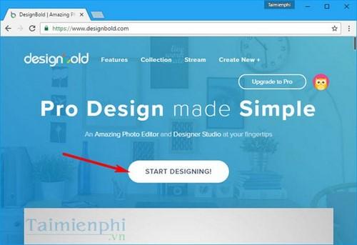 Tạo tiêu đề blog bằng Designbold