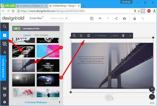 Tạo hình nền máy tính bằng Designbold