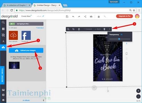 Thiết kế bìa sách trực truyến bằng Designbold