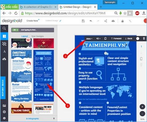 Tạo Infographic bằng DesignBold
