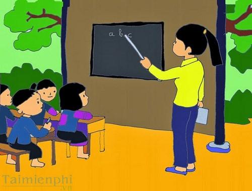 Bộ sưu tập tranh vẽ cô giáo và học sinh, tranh vẽ kỷ niệm 20/11 2