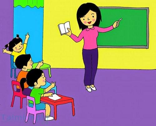 Bộ sưu tập tranh vẽ cô giáo và học sinh, tranh vẽ kỷ niệm 20/11 3