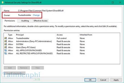 Cách khôi phục quyền TrustedInstaller trên Windows 10 3