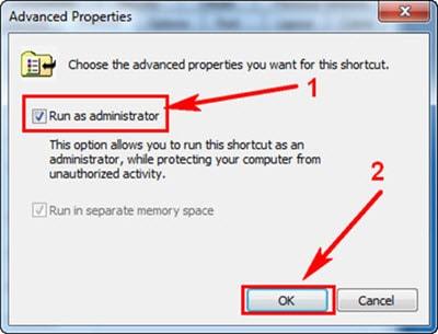 Cách tạo shortcut tường lửa trong Windows 7