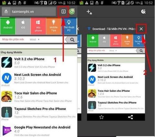 Duyệt web ẩn danh Cốc cốc trên điện thoại iPhone, Android
