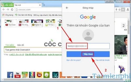 Cách thêm người dùng Cốc Cốc, bổ sung tài khoản mới trên CocCoc