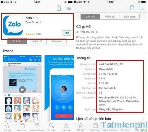 Cách theo dõi, cập nhật phiên bản mới nhất từ Zalo 3