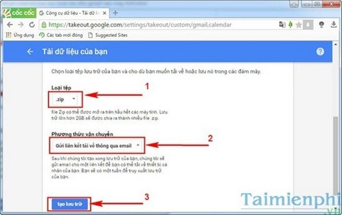 Sao lưu thư Gmail về máy tính, tải thư từ gmail về PC