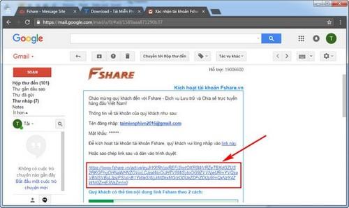 Đăng ký Fshare, tạo tài khoản Fshare tải dữ liệu trực tuyến