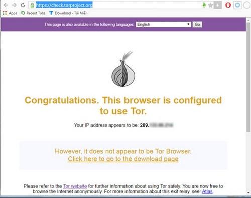 Lướt web ẩn danh trên Chrome bằng Tor
