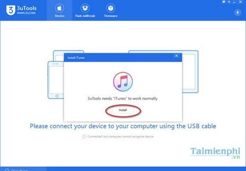 Cài 3uTools, sử dụng 3uTools kết nối iPhone với máy tính 2