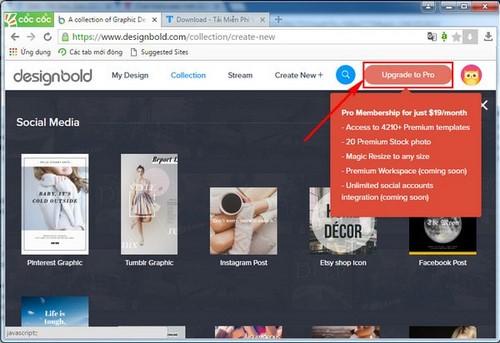 Đăng ký DesignBold, tạo tài khoản DesignBlod, thiết kế đồ họa trực tuyến