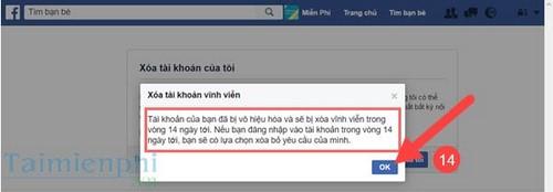 Xóa tài khoản Facebook trên máy tính, pc 10
