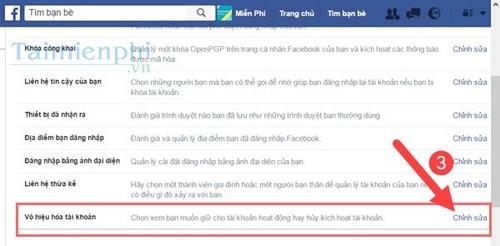Xóa tài khoản Facebook trên máy tính, pc 2