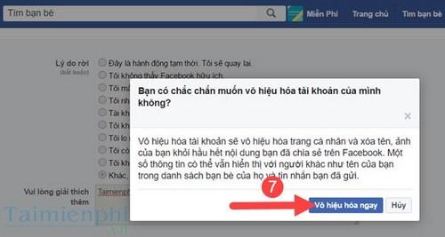 Xóa tài khoản Facebook trên máy tính, pc 5
