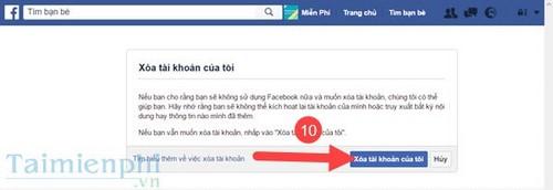 Xóa tài khoản Facebook trên máy tính, pc 8
