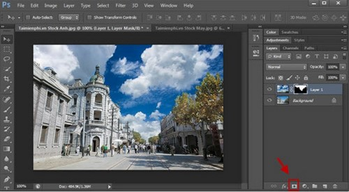 Cách ghép ảnh bằng Photoshop trên máy tính
