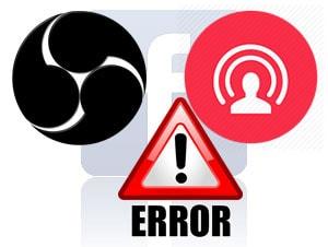 loi obs khi live stream facebook