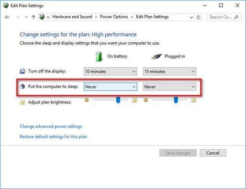 Bật tắt sleep trong Win 10, chế độ nghỉ trên Windows 10 3