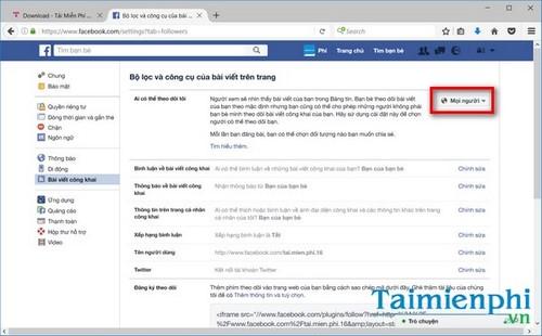 Người dùng cũng có thể quản lý việc người dùng chưa phải bạn bè có thể đăng  bình luận trong các bài post của bạn tại hai mục Public Post Comments  (Thông ...