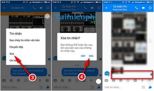 Hướng dẫn xóa tin nhắn Facebook trên Android