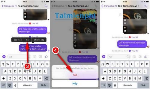Xóa tin nhắn Facebook trên điện thoại iPhone, iPad