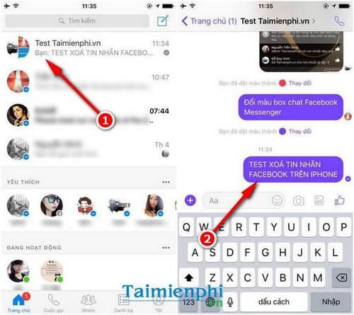 Hướng dẫn xóa tin nhắn Facebook trên điện thoại iPhone, Android hoàn toàn