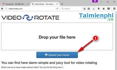 Xoay video bị ngược trực tuyến, không cần phần mềm bằng Video Rotate