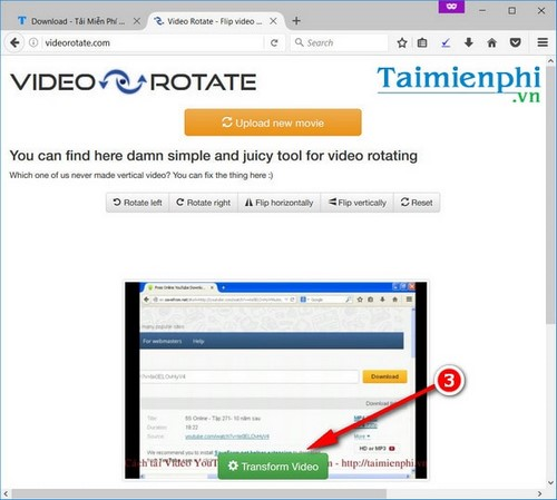 rotate the video