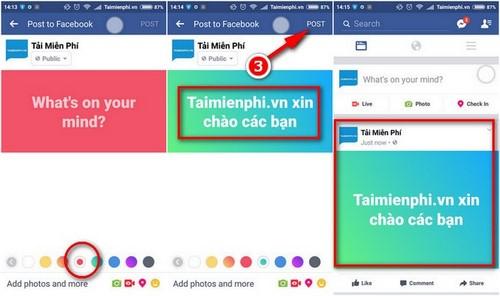 Đăng status Facebook nhiều màu sắc, đổi phông nền status trên Facebook