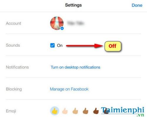 Tắt âm thanh tin nhắn khi chat nhóm trên Facebook