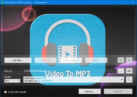 chuyen doi video sang mp3 bang free video to mp3 converter