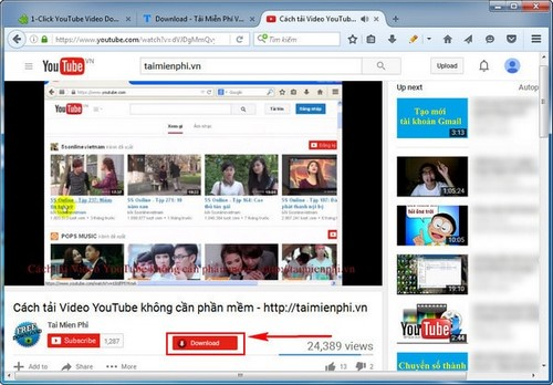 tai video youtube bang add ons tren firefox