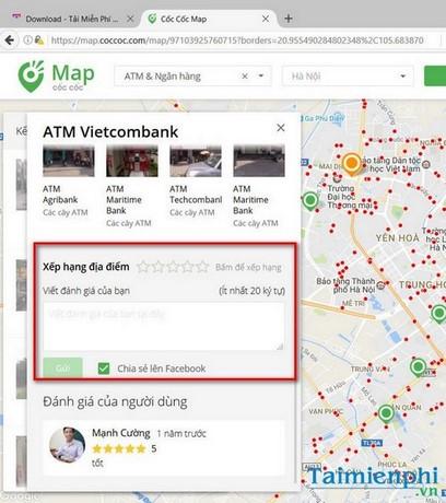 cach tim cay atm ngan hang bang coc coc map