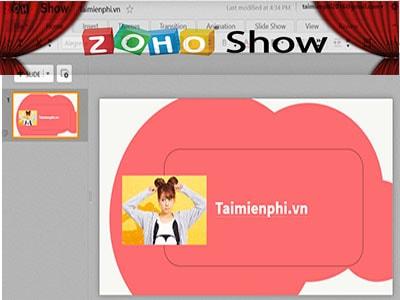 huong dan tao slide thuyet trinh bang zoho show