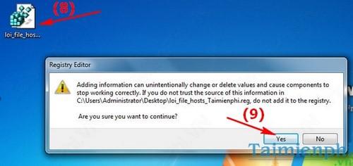 Repair host files on windows