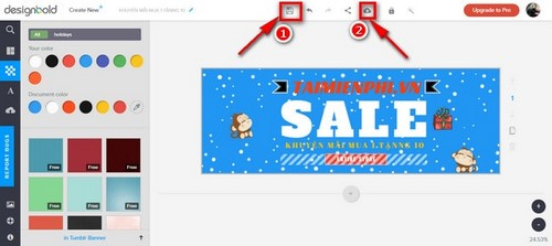 Hướng dẫn tạo banner bằng DesignBold