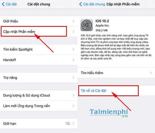 Nâng cấp iOS 10.2, cách cập nhật iOS 10.2 cho iPhone, iPad 2