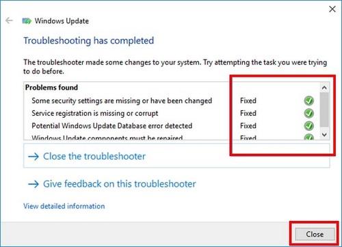 Cách khắc phục lỗi Windows Update bị treo, áp dụng Windows 10