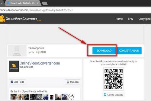 Cách chuyển định dạng video MP4 thành WMV trực tuyến