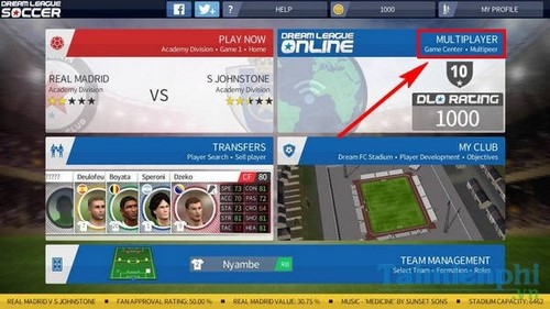 thach dau voi nguoi choi trong dream league soccer 2016