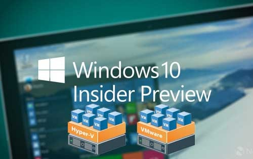 cach dung windows 10 insider voi may ao