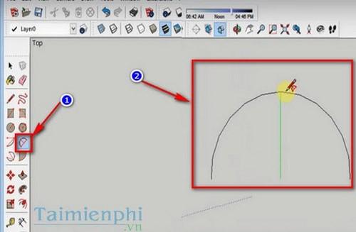 Cách tạo mái vòm trong Sketchup, thiết kế mái vòm trên Sketchup