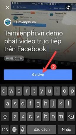 stream video tren fanpage facebook