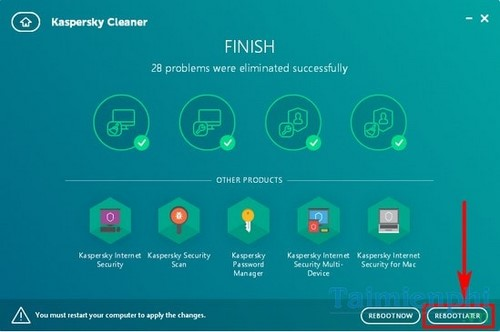 Install and use Kaspersky cleaner on the computer