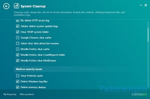Install and use Kaspersky cleaner on pc