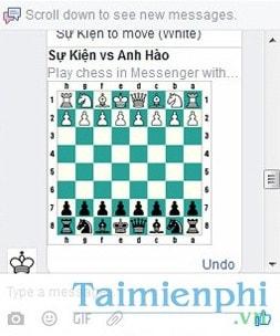 Cách chơi cờ vua trên Facebook Messenger