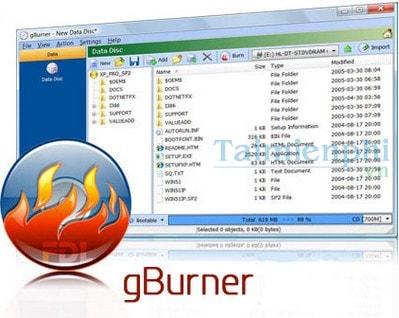 chuyen cue/bin sang file iso bang gBurner